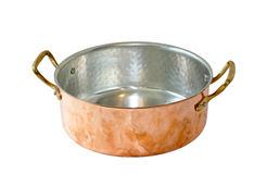 Copper pan Stock Image