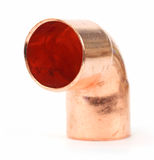 Copper pipe fitting Stock Photo
