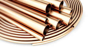 Copper pipe Royalty Free Stock Photos