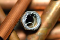 Copper Pipe. Copper Pipe in Osaka Japan royalty free stock photography