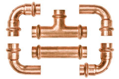 Copper pipe tubes Stock Photo
