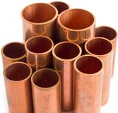 Copper pipe. For use produce the air-conditioner royalty free stock photo