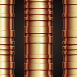 Copper pipeline seamless pattern. Royalty Free Stock Photo