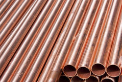 Copper Pipes Royalty Free Stock Photo