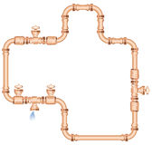Copper pipes Royalty Free Stock Images