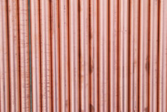 Copper pipes. Can be used for abstract background stock photography
