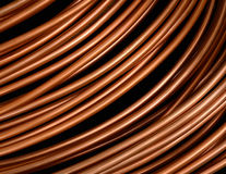 Copper Pipes. Background Isolation Of Copper Tubing Or Pipes With Clipping Path Stock Photography
