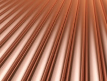 Copper pipes background Stock Images