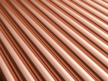 Copper pipes background Stock Photography