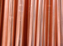 Copper pipes. A close up of copper pipes Stock Photography