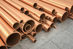 Copper Pipes Royalty Free Stock Photos