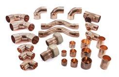 Copper pipes Stock Photos