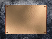 Copper Plate. On grunge metal background Stock Photography