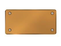 Copper plate Stock Image