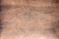 Copper plate texture, brushed orange metal surface Royalty Free Stock Photo