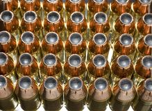 Copper plated ammo Royalty Free Stock Photography