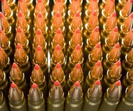 Copper plated bullets Royalty Free Stock Images