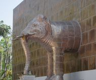 Copper plated elephant statue. Stock Photography