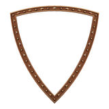 Copper plated shield picture frame Royalty Free Stock Photo