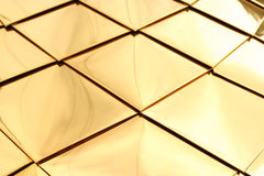 Copper plates. Fragment of a dome of church from copper plates Stock Photos