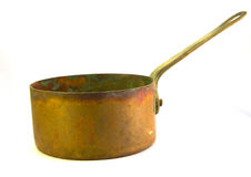Copper Pot. A old Copper cooking pot Royalty Free Stock Image