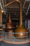 Copper pot for Feints Still distilling process, Dublin, Ireland,. Feints still pot to create whiskey at Old Jameson Distillery in Dublin Stock Images