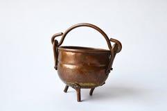 Copper pot from a flea-market Royalty Free Stock Photos