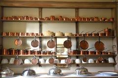 Copper pots Stock Photos