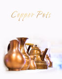 Copper pots Royalty Free Stock Images