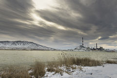Copper Processing Plant on a winter. The most polluted place on the planet - Karabash Royalty Free Stock Images