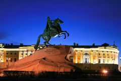 Copper rider - Peter I. The decembrists's square in Saint-Petersburg, Russia Royalty Free Stock Photos