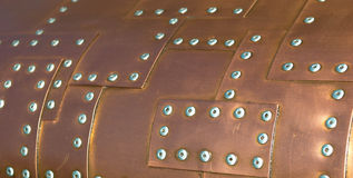 Copper Rivets Royalty Free Stock Photo