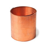 Copper roll Royalty Free Stock Images
