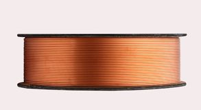 Copper roll Tube Stock Photography