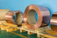 Copper rolled products Stock Photos