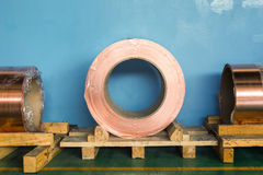 Copper rolled products Stock Photo