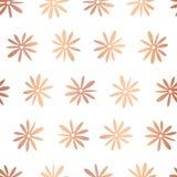 Copper rose foil flower vector seamless pattern royalty free illustration