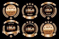 Copper_round_badge_set 皇族释放例证