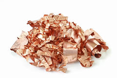 Copper Scrap from XLPE Cable on white background Royalty Free Stock Photography