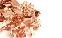 Copper Scrap from XLPE Cable on white background Royalty Free Stock Photo