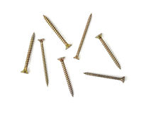 Copper screws Stock Photography