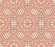 Copper seamless decor on white wall with shadows. Simple geometric pattern, 3D illustration background vector illustration