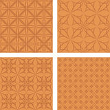 Copper seamless pattern background set Stock Photography