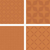 Copper seamless pattern set. Copper color seamless pattern wallpaper set Stock Image