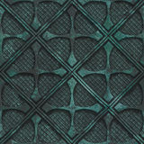 Copper seamless texture with geometric pattern on a oxide metallic background. 3d illustration Stock Images