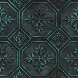 Copper seamless texture with geometric pattern on a oxide metallic background. 3d illustration Royalty Free Stock Photo