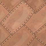 Copper seamless texture. With rounded corners Stock Photos