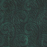 Copper seamless texture with swirls pattern on a oxide metallic background. 3d illustration Stock Photos