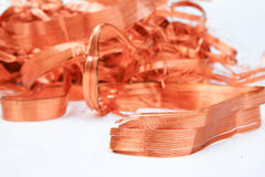 Copper shavings - Series 1 Stock Images