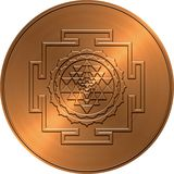 Copper Shree Yantra Design Royalty Free Stock Images